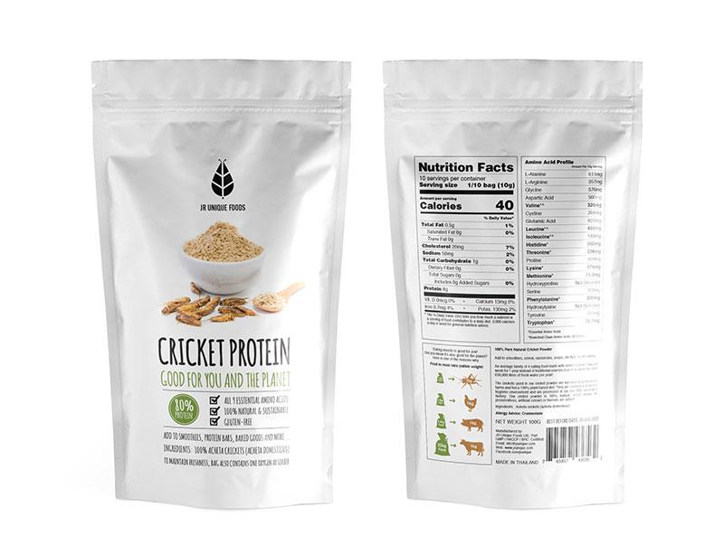 cricket protein powder bag
